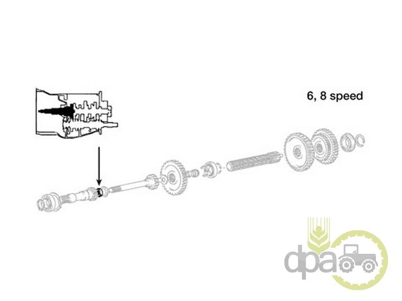 Simering ax cutie viteza  Massey Ferguson 195501M1